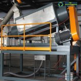 Línea PP/PE de la película inútil del plástico/máquina de reciclaje y que se lavan