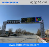 P10mm WiFi/3G/Internet 해결책을%s 가진 LED 스크린을 광고하는 옥외 소통량 도로