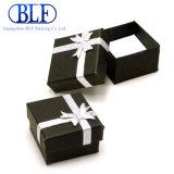 Небольшой кусок картона черного подарочная упаковка для кольца (BLF-GB034)