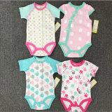 Jumpsuit novo dos desenhos animados do triângulo do algodão do verão do bebê do estilo