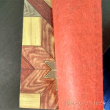 PVC de madera Rolls que suela plástico del forro del fieltro de la mirada del linóleo
