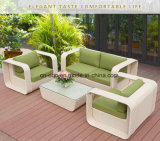 屋外L形のソファーの余暇のソファーの庭の家具の藤/柳細工のソファー(S220)