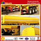 Remorque de camion-citerne d'essence de capacité de Cbm de l'acier inoxydable 50 semi