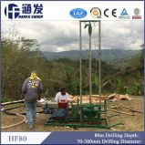 Plate-forme de forage portative de puits d'eau sur le marché de l'Afrique pour le puits de profondeur de 80m