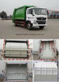 Pequeño Sinotruk 4 toneladas a 5 toneladas de la basura de la compresa del carro 4 del compresor M3 de carro de basura