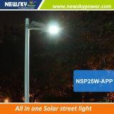 2017 Lamp 150lm/W van de Weg van het Nieuwe Product integreerde de OpenluchtIP65 Waterdichte allen in Één Zonne LEIDENE Straatlantaarn