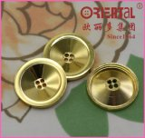 Tasto di cucito dorato lucido del metallo dei 4 fori
