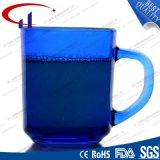 tazza di vetro dell'acqua di vendita calda blu di colore 340ml (CHM8124)