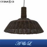 lâmpada artística do pendente do Rattan do a&L para a sala de jantar