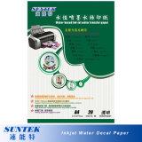 Format A4 de l'eau de fond transparent jet d'encre Faites glisser le papier de l'autocollant