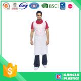 Белый одноразовый защитный фартук для приготовления пищи