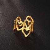 De Ring van het Roestvrij staal van het Ontwerp van de Liefde van de manier
