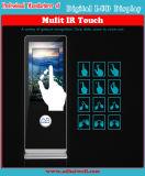 LCDスクリーンに触れるデジタルLCD映画広告の表示を立てる55インチの床