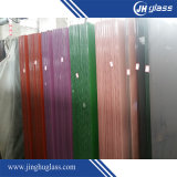 8mm Toughened White Pink Grey Purple Shining Laceded Glass for Decorative
