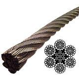 6 X37 Iwrc 304 Roestvrij staal/de Gegalvaniseerde/Heldere Kabel van de Draad