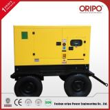 Four Wheels Movable Trailer Diesel Silent Generator