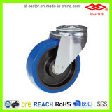 """5 """" 두꺼운 주거 고무 피마자 바퀴 (D161-23F125X36)"""