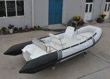 battello pneumatico di prezzi di Checp della barca della nervatura del guscio della vetroresina della barca del pontone di 17FT