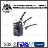3PCS長いハンドルが付いているロゴによってカスタマイズされる磁器のエナメルのコーヒーウォーマー