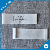 Etiqueta tecida etiqueta do laço da garganta do terno do damasco da parte alta