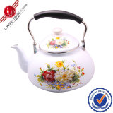 Vario Decal Enamel Teapot con Bakelite Handle