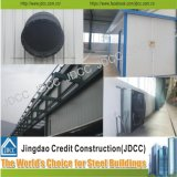 Armazém claro galvanizado da construção de aço