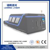 Máquina de estaca do laser da fibra da folha de metal Lm4020h3 com tampa cheia