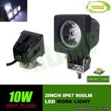 10W 2pulgadas off road luz LED de trabajo para la carretilla SUV