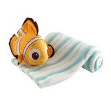 해양동물은 도매를 위한 연약한 무지개 물고기 견면 벨벳 장난감을 채웠다