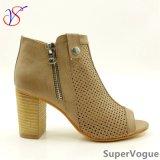 De Manier van het Geslacht van twee Kleur hielde sociaal hoog Vrouwen Dame Sandals Shoes voor Bedrijfs sv17s001-01-Tan