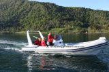 Aqualand 20feet 6.2m Bateau de pêche pneumatique rigide / bateau à côtes en fibre de verre (RIB620D)