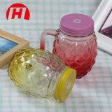 [450مل] [مسن جر] [مولتيكلور] زجاجيّة مع مقابض و [درينك غلسّ] أناناس زجاجة