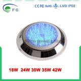 18W 316 lampe fixée au mur contrôlée de piscine du commutateur DEL de l'acier inoxydable RVB