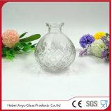 Venda por grosso de vidro redonda clara vaso de aromaterapia com difusor de cana