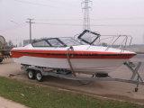 Imbarcazione a motore della barca di velocità della vetroresina di Aqualand 25feet/di sport (760)