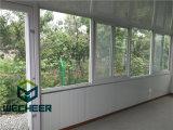 ガラス窓が付いている取り外し可能なプレハブの容器の家