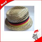 O Fedora Hat Chapéu Chapéu de Palha Chapéu de Palha Oco Rush Chapéu de Palha