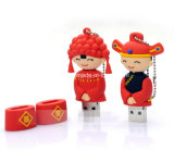 Cartoon Stick USB Pen Drive cadeau de mariage mariée / marié lecteur Flash USB