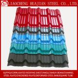 Gewölbtes Stahldach-Blatt der Farbe beschichtete