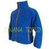 Женщин в полной мере голубой молнией Cationic Вся обшивочная ткань флис куртка