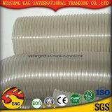 Manguito superficial liso flexible amarillo del alambre de acero de la succión Hose/PVC del PVC