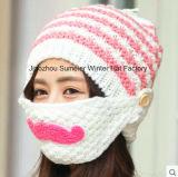 Hand-Knitted шлем вышил связанному шлему Beanie
