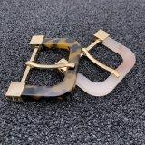 La mode des boucles de ceintures fait de résine en matériau plastique en acétate de cellulose