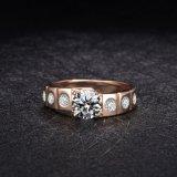 Обручальное кольцо захвата Bridal золота женщин ювелирных изделий кристаллический