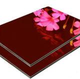 3мм PE покрытие глянцевый красный алюминиевых композитных панелей используйте оформление витрины магазина