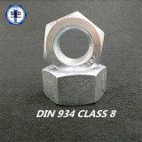 도금되는 DIN934 육 견과 Cl8 아연