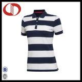 Chemises de polo classiques respirables de la Chine Stiped pour des femmes