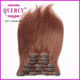 一等級100g 20inchのバージンの層の毛の拡張のインドのヘアークリップ
