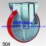 Roter Belüftung-industrieller Hochleistungsschwenker mit doppelter Verschluss-Fußrolle