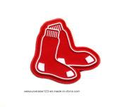 Socken-Form rotes weiches Belüftung-Abzeichen für Kleid